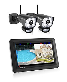 Video Home Surveillance Kit With LED Spotlight