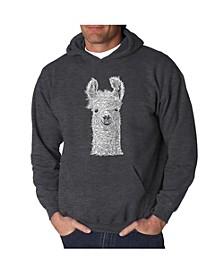 Men's Word Art Hoodie - Llama