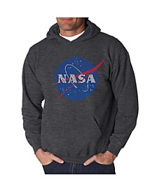 Men's Word Art Hoodie - Nasa Meatball Logo