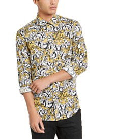 Just Cavalli Men's Tiger Print Shirt