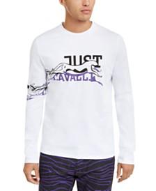 Just Cavalli Men's Cheetah Print Graphic Shirt