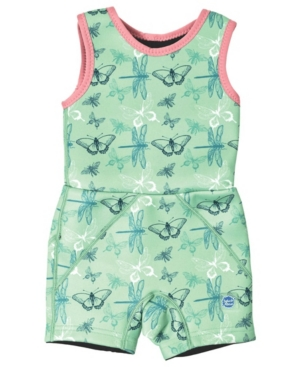 Splash About Little Girl's Jammer Wetsuit with Swim Diaper Dragonfly