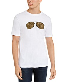 Men's Leopard Print Aviator Graphic T-Shirt