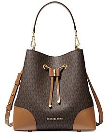 Signature Mercer Gallery Convertible Bucket Leather Shoulder Bag