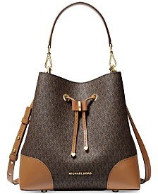 Michael Michael Kors Mercer Gallery Convertible Bucket Leather Shoulder Bag