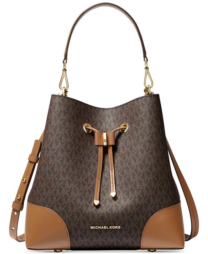 Michael Kors - Mercer Gallery Medium Convertible Bucket Leather Shoulder Bag