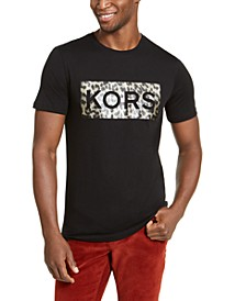 Men's Leopard Box Logo Graphic T-Shirt