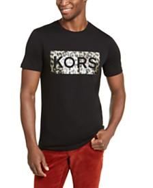 Michael Kors Men's Leopard Box Logo Graphic T-Shirt
