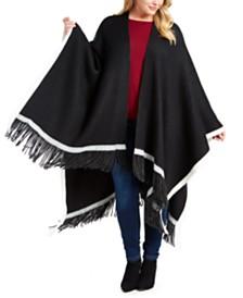 Vince Camuto Plus Size Pop-Stripe Knit Topper