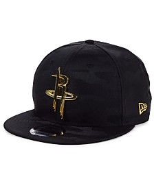 New Era Houston Rockets Stealth Metal 9FIFTY Snapback Cap