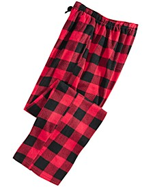 Men's Buffalo Plaid Fleece Pajama Pants