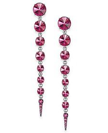 Graduated Stone Spike Linear Earrings, Created for Macy's