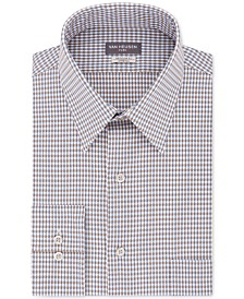 Van Heusen Men's Classic/Regular-Fit Performance Stretch Wrinkle-Free Flex-Collar Check Dress Shirt