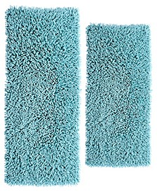 "Chenille Shaggy 17"" x 24"" and 24"" x 40"" 2-Pc. Bath Rug Set"