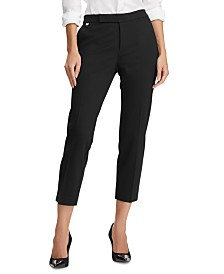 Lauren Ralph Lauren Stretch Ponte Straight-Leg Pants