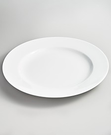 Martha Stewart Collection Whiteware Rim Dinner Plate, Created for Macy's