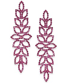 """Extra Large Crystal Leaf Drop Earrings, 4"""", Created for Macy's"""