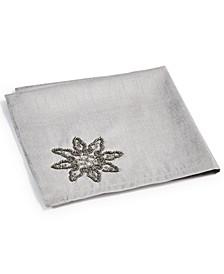 CLOSEOUT! Silver Dazzling Snowflake Napkins, Set of 4