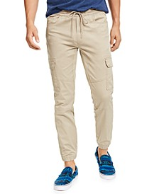 Men's Elastic Cargo Pants, Created for Macy's