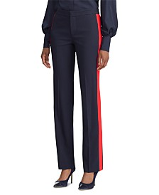 Lauren Ralph Lauren Petite Side-Stripe Straight-Leg Pants