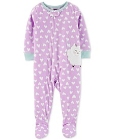 Toddler Girls Footed Sheep Pajamas