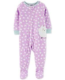 Carter's Toddler Girls Footed Sheep Pajamas