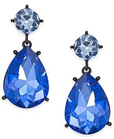Black-Tone Stone Drop Earrings, Created For Macy's