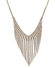 """Gold-Tone Rhinestone Statement Necklace, 16"""" + 3"""" extender, Created for Macy's"""