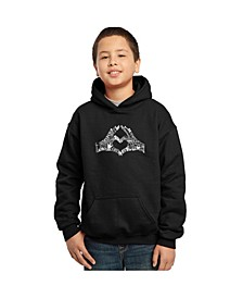 Boy's Word Art Hoodies - Peace Fingers