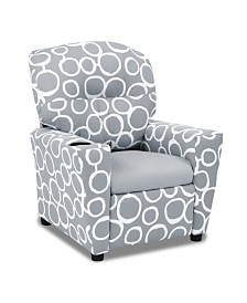 Kangaroo Trading Co. Kid's Recliner with Cupholder - Freehand Storm Twill with Pebbles