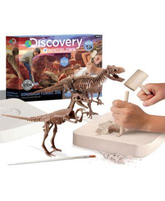 Discovery MindBlown Toy Dinosaur Excavation Kit Skeleton 3D Puzzle - Stem