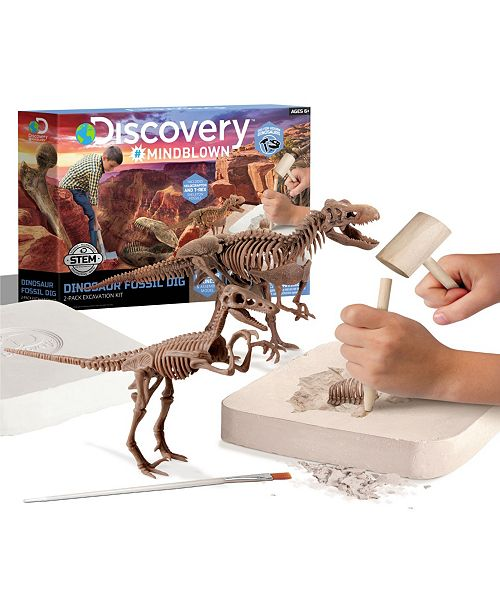 Discovery #MINDBLOWN Discovery MindBlown Toy Dinosaur Excavation Kit Skeleton 3D Puzzle - STEM