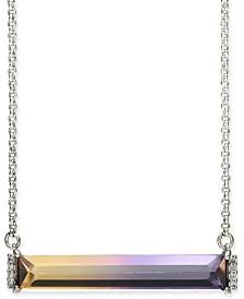 "Kate Spade New York Pavé & Ombré Crystal Pendant Necklace, 17"" + 3"" extender"