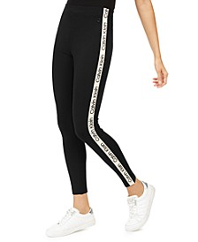 High-Rise Logo Leggings