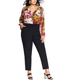 City Chic Trendy Plus Size Mrs. Draper Tailored Pants