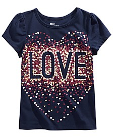 Toddler Girls Metallic Love T-Shirt, Created for Macy's