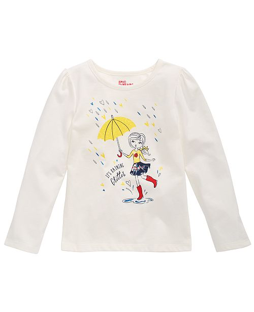 Epic Threads Toddler Girls It's Raining Glitter T-Shirt, Created for Macy's