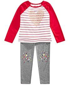 Toddler Girls Heart T-Shirt & Leggings, Created for Macy's