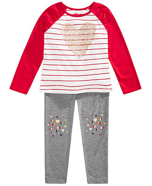 Epic Threads Toddler Girls Heart T-Shirt & Leggings, Created for Macy's