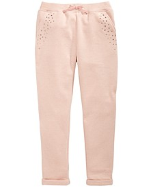Big Girls Sparkle Fleece Jogger Pants, Created for Macy's
