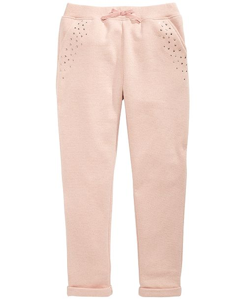 Epic Threads Big Girls Sparkle Fleece Jogger Pants, Created for Macy's