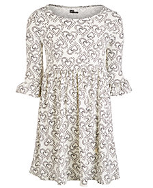 Epic Threads Big Girls Heart-Print Dress, Created for Macy's