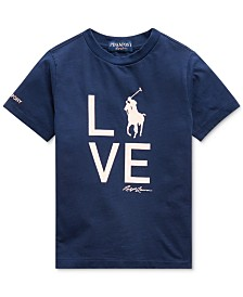Polo Ralph Lauren Little Boys Pink Pony Love T-Shirt