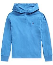 Big Boys Hooded Jersey Cotton T-Shirt