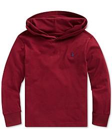 Little Boys Hooded Jersey Cotton T-Shirt