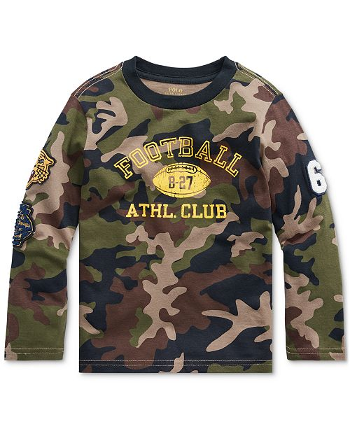 Polo Ralph Lauren Little Boys Camo Athletic Club T-Shirt