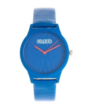 Unisex Splat Blue Leatherette Strap Watch 38mm