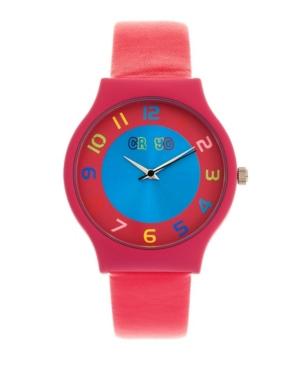 Unisex Jubilee Hot Pink Leatherette Strap Watch 36mm