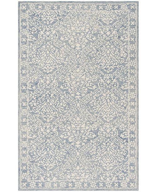 Lauren Ralph Lauren Olivier LRL6935M Blue and Ivory 4' X 6' Area Rug