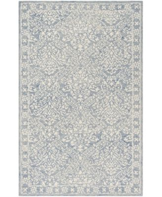 Olivier LRL6935M Blue and Ivory 5' X 5' Round Area Rug